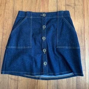 Banana Republic Women's Blue Jean Skirt - 2P